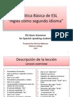 Basic Esl Grammar