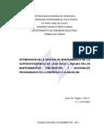 Optimizacion Gestion Mantenimiento Superintendencia Basado Mantenimientos Preventivos