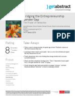 Bridging the Entrepreneurship Gender Gap Blomqvist en 23579
