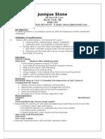Juniqua's Resume