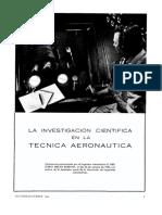 La Investigacion Cientifica en La Tecnica Aeronautica