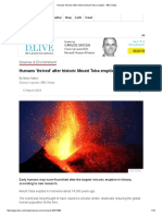 Humans 'Thrived' After Historic Mount Toba Eruption - BBC News