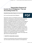Deductible Depreciation Expense for Income Tax in Philippines _ Tax and Accounting Center Inc