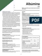 Albumina Metodo Colometrico