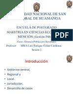 2Gerencia Publica Por Resultados Sesion 2 Gobierno Central, Regional,Local, Jurisdiccion Enlace