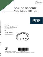 HANDBOOK of SECOND Language Acquisition