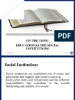 Education as the social institution