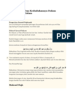 Kaedah Fiqh Dan Kedudukannya Dalam Perundangan Islam
