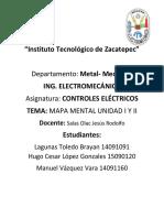 Mapa Mental Unidad 1 Y 2 de controles electricos