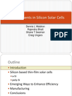 Advancements in Si Solar Cells