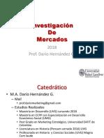 Cap 1 (Investigación de Mercados ) 2018