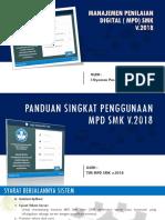 Panduan Singkat Mpd Smk 2018