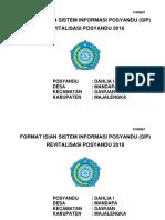 Format Isian Sistem Informasi Posyandu (Sip)