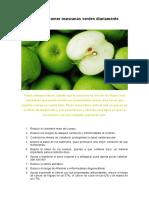 Razones Para Comer Manzanas Verdes Diariamente