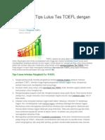 Strategi Dan Tips Lulus Tes TOEFL Dengan Skor Tinggi