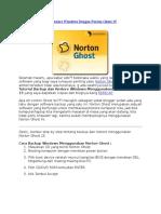 Tutorial Backup Dan Restore Windows Dengan Norton Ghost 15