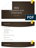 OCA Operators and Statements