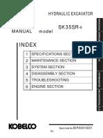 Mini excavator Sk35sr-5 Shop Manual