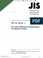 Iron Ores - Methods for Determination of Chromium Content(Jis m 8224)