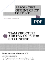 Collaborative Development of ICT Content
