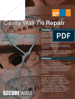 Cavity Wall Tie Repairs Leaflet - PDF
