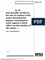 Suitability of non-matallic products for use in contact with water intended for human consuption with regard to their effect on the quality of the water