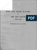 Jews and Negro Slavery in the Old South - 1789-1865