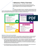 classroom behaviour policy overview