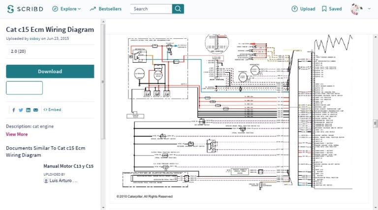 Cat C15 Ecm Wiring Diagram | Wiring Diagram