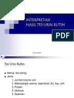 Interpretasi Tes Urin