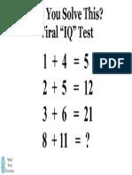 Viral Math Puzzle 1
