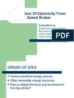 Production of Electricity From Speed Braker