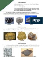 Qué son las rocas