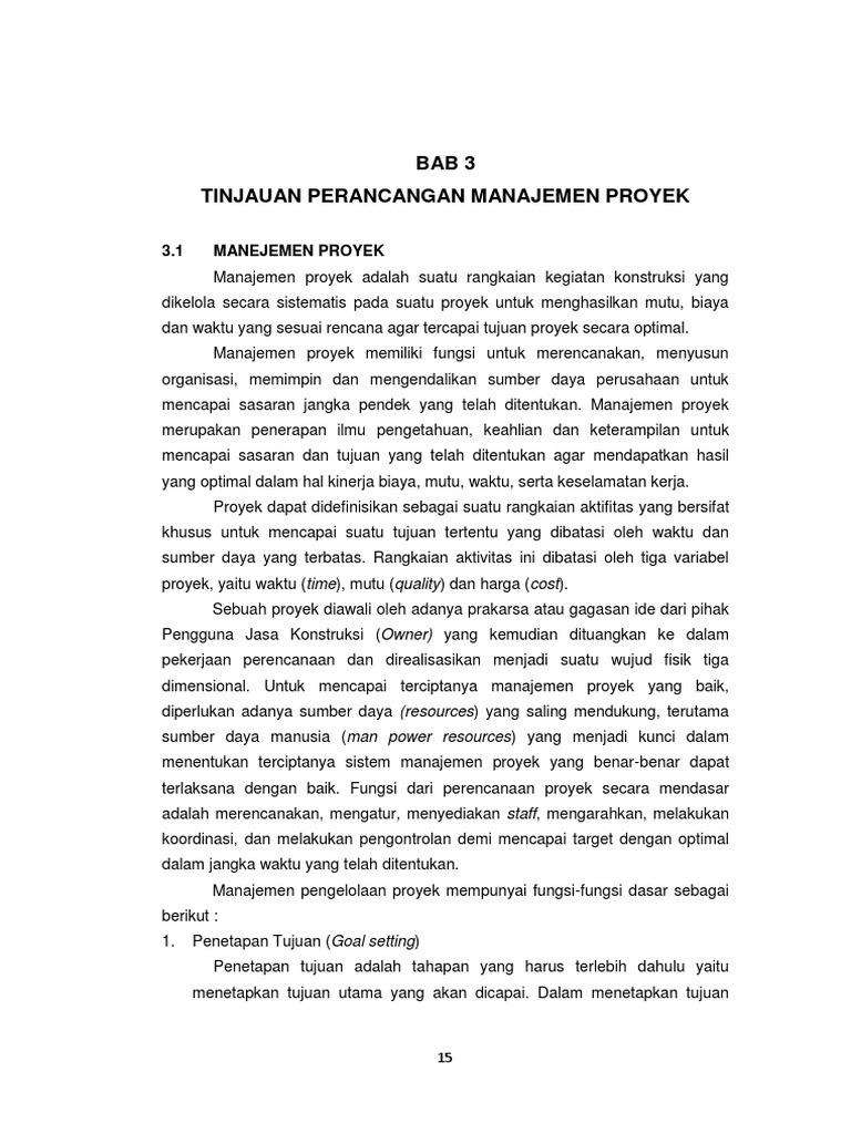 Makalah manajemen proyek konstruksi pdf