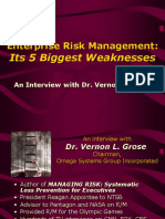 Five ERM Weaknesses