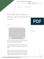 Five Layer Shri Palekar Ji Model - 36_36 Model for Full 1 Acre