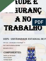 Sadeesegurananotrabalho Sociologia2012!2!121219110759 Phpapp01