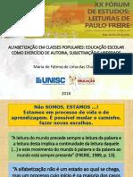 Apresentação Xx Forum Freire2018