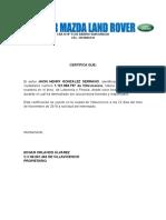 Taller Mazda Land Rover