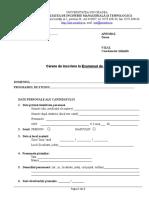 Anexa 6. Formular Cerere de Inscriere La Examenul de Disertatie_model Sssde Tiparit