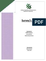 ORGANIC FARMING survey Report