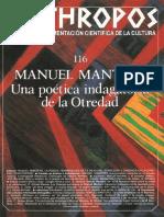 Manuel Mantero. Una Poética Indagatoria de La Otredad - VV.aa