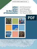 Plan de recuperación y reconstrucción de Puerto Rico