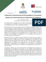 Programa II Seminario Internacional de Psicopolítica y Conciencia