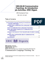 GALLOWAY, Ann - Communicative Language Teaching an Introduction and Sample Activities