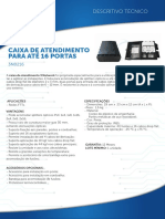 CAIXA DE ATENDIMENTO FTTH CTO 3 NETWORK LANÇAMENTO BRASIL
