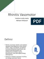 Rhinitis Vasomotor Ok