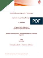 U1.Introduccion Al Aprovisionamiento en El Sistema Logistico