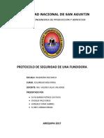 Protocolo de Seguridad Fundiciones