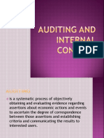 Auditing and Internal Control Report